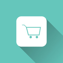 shopping cart icon. vector illustration