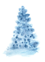 Blue simple Christmas tree
