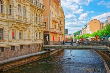 Promenade at the Tepla River Karlovy Vary