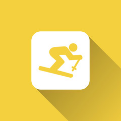 skier icon design
