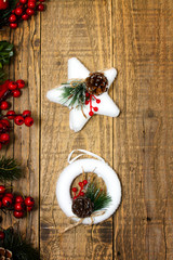 Ghirlanda e Stella di Natale