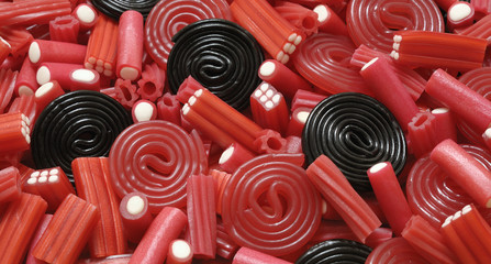 Licorice candy and mix