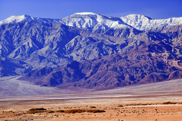 Snowy Panamint  Mountains Death Valley National Park California