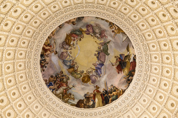 The very top of the Rotunda or Dome of the Capitol Building
