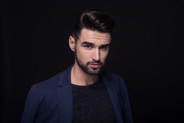good looking man, fashion model, face, head