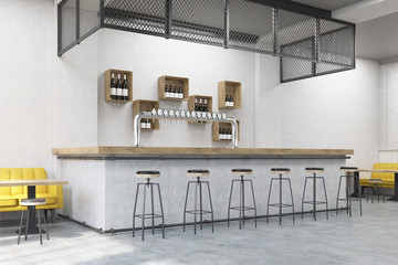Bar stand in a cafe