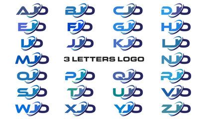 3 letters modern generic swoosh logo AJO, BJO, CJO, DJO, EJO, FJO, GJO, HJO, IJO, JJO, KJO, LJO, MJO, NJO, OJO, PJO, QJO, RJO, SJO, TJO, UJO, VJO, WJO, XJO, YJO, ZJO