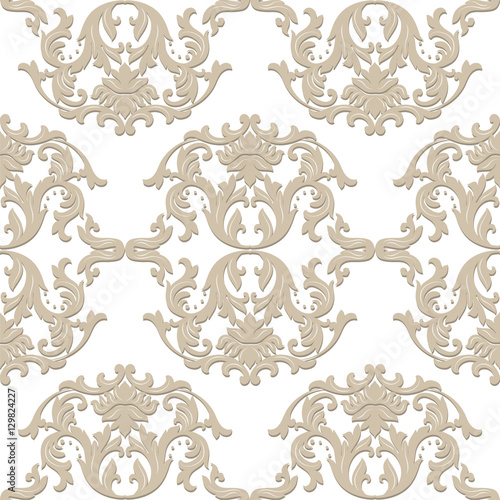Vintage baroque ornament. Retro pattern antique style