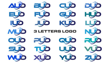 3 letters modern generic swoosh logo AUO, BUO, CUO, DUO, EUO, FUO, GUO, HUO, IUO, JUO, KUO, LUO, MUO, NUO, OUO, PUO, QUO, RUO, SUO, TUO, UUO, VUO, WUO, XUO, YUO, ZUO
