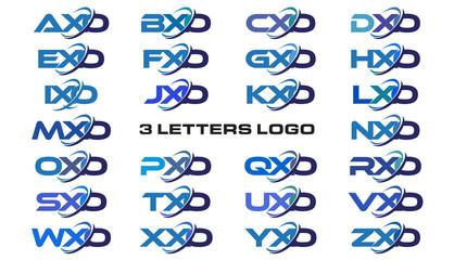 3 letters modern generic swoosh logo AXO, BXO, CXO, DXO, EXO, FXO, GXO, HXO, IXO, JXO, KXO, LXO, MXO, NXO, OXO, PXO, QXO, RXO, SXO, TXO, UXO, VXO, WXO, XXO, YXO, ZXO