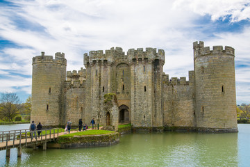 Bodiam Castle 14th-century moated fortification. Kent, UK