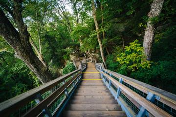 Stairways at Chimney Rock State Park, North Carolina.