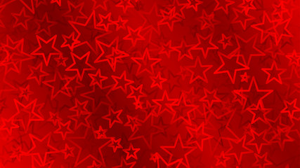 Red abstract background of small stars