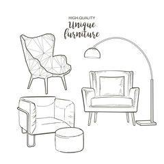 vector sketch chairs