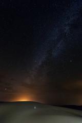 Merzouga, Marokko, Erg Chebbi, Sahara, Wueste, Milchstrasse