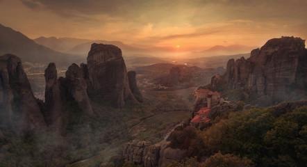 Felslandschaft mit Meteora Klöstern in Griechenland