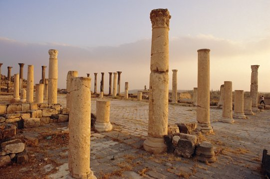 Roman ruins of Umm Qais, the biblical Decapolis city of Gadara, Jordan