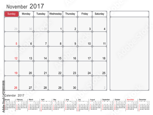 November Calendar Design : Quot calendar planner design november year vector