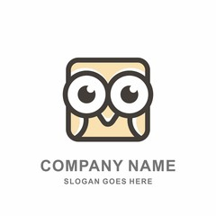 Owl Bird Mobile Phone Apps Education Learning Technology Computer Business Company Stock Vector Logo Design Template
