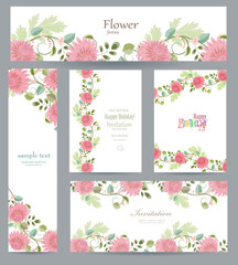 graceful collection of greeting cards with chrysanthemum for you