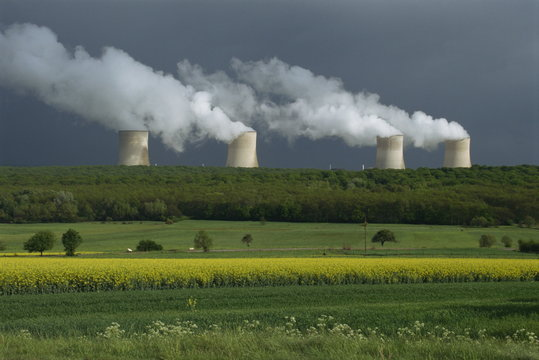 Central nuclear power plant, Champagne Region, France