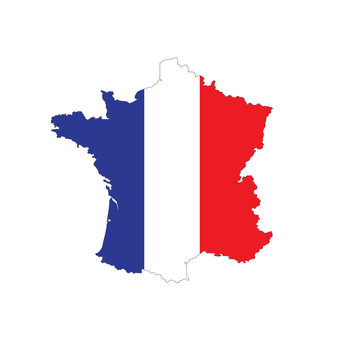 Carte France Drapeau Election