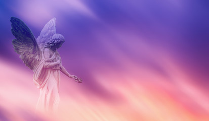 Beautiful angel in heaven panoramic veiw Wall mural