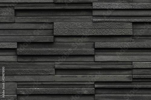 black stone wall texture. Black Bricks Slate Texture Background, Stone Wall L