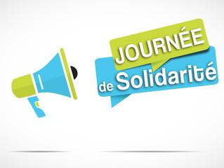 mégaphone : journée de solidarité
