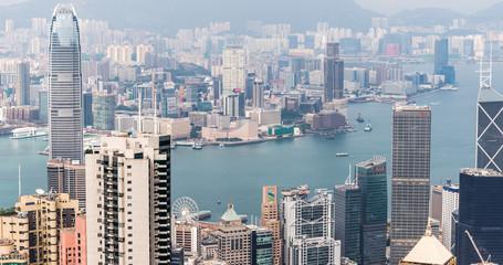 Fotomurales - Hongkong city view from The peak at Hongkong
