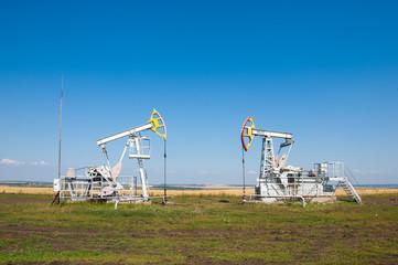 Oil pumps. Oil rocking chair