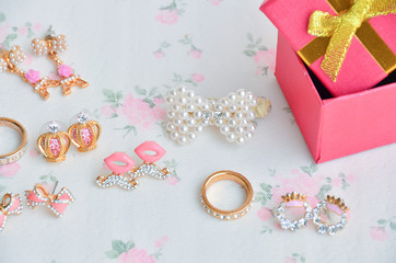 Jewelry box gifts at New Year.