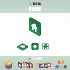 Set of home icons.