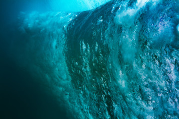 Ocean wave underwater view