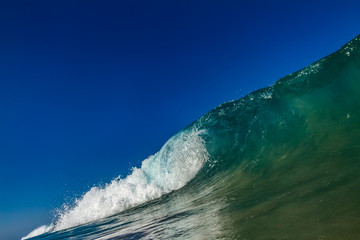 Ocean blue green wave