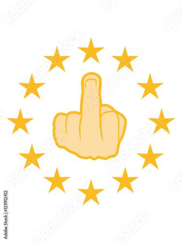 Premium Star Circle Show Gloves Stinkfinger Middle Finger Symbol