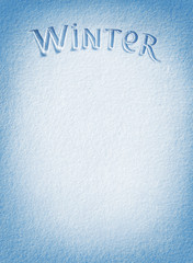 Winter! Background of fresh snow texture in blue tone. High resolution product, top view