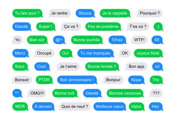 Bulles SMS avec messages