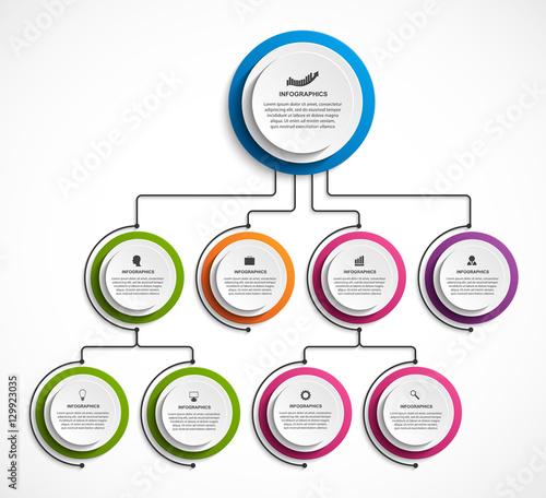 Infographic Design Organization Chart Template Fichier Vectoriel
