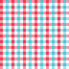 Red and Aqua Combination Gingham