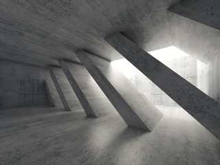 Abstract concrete architecture background 3d