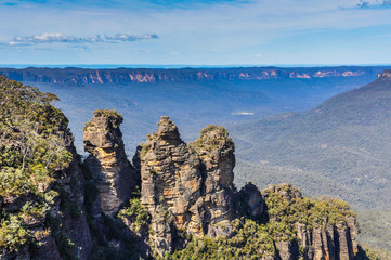 Three sisters rocks in Blue Mountains, Australia