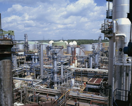 A petro-chemical plant