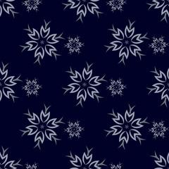 Dark Snowflakes Background