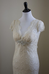 Lace Wedding Dress on a Mannequin