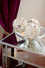 Mirrored Orbs Home Decor