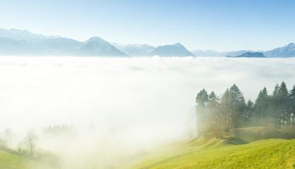 Rigi Alm in den Schweizer Alpen