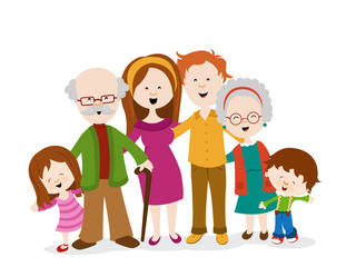 Vector Illustration Of Big Family