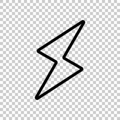 flash icon. Black icon on transparent background.