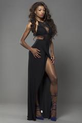 Young beautiful African girl posing.
